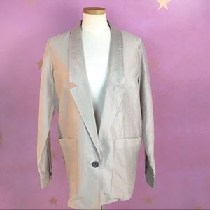 NWT CLUB MONACO SINGLE BUTTON SILK BLEND BLAZER 10
